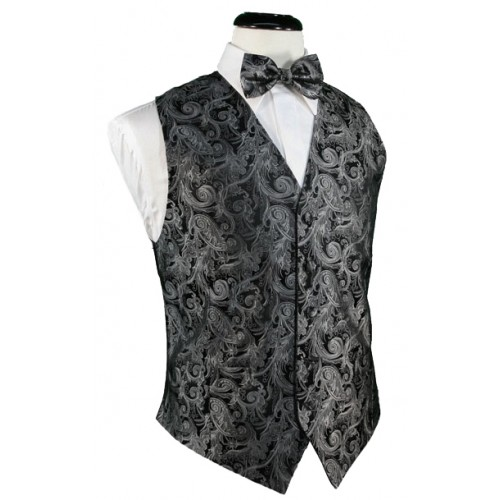 Tapestry Silk Vest and Tie Set