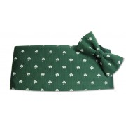 Classic Irish Shamrocks Cummerbund and Tie Set