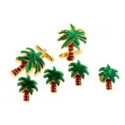 Palm Trees Cufflinks and Studs