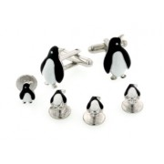 Black and White Penguin Cufflinks and Studs