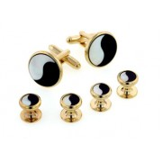 Yin Yang Cufflinks and Studs