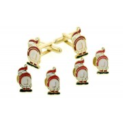 Mooning Santa Cufflinks and Studs