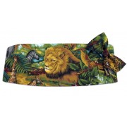 King of the Jungle Cummerbund and Tie Set