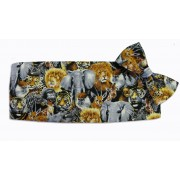 Zoofari Cummerbund and Tie Set