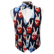 Pop Art Peace Vest and Tie Set