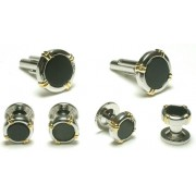 Cascades Cufflinks and Stud Set