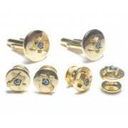 Masonic Cufflinks and Stud Set