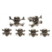 Skull and Cross Bones Cufflinks and Studs