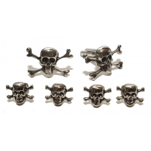 Skull and Cross Bones Cufflinks and Studs