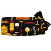 Wine Tasting Cummerbund and Bow Tie Set