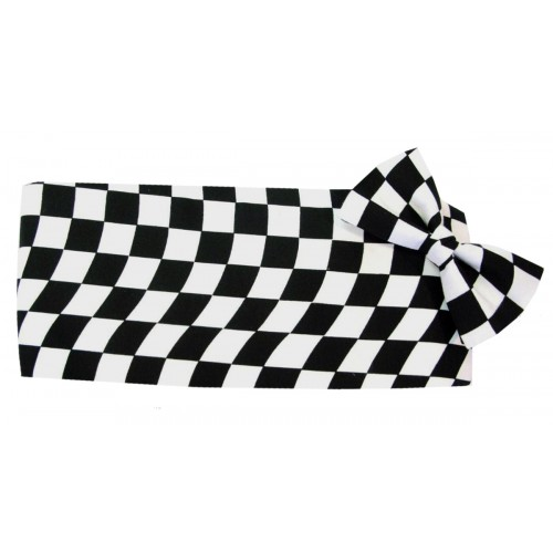 Wavy Victory Flag Cummerbund and Tie Set