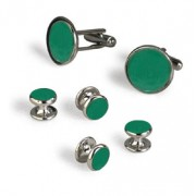 Shamrock Green Cufflinks and Studs