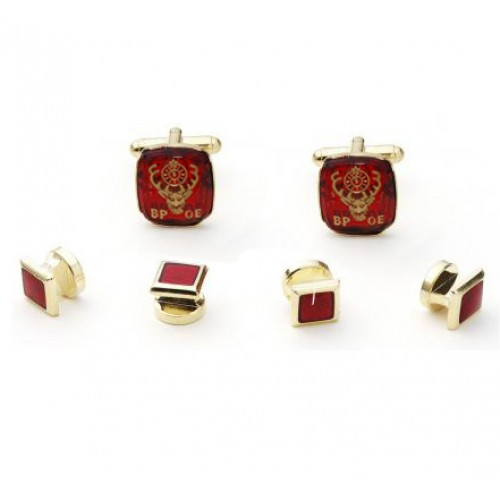 Elk's Club Cufflink and Stud Set