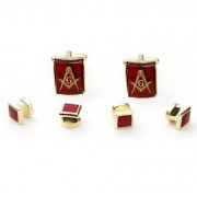 Freemasons Cufflinks and Stud Set