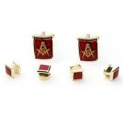 Freemasons Cufflinks and Stud Set