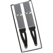 Silver Gray Silk Suspenders