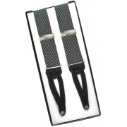 Black and Gray Birdseye Silk Suspenders