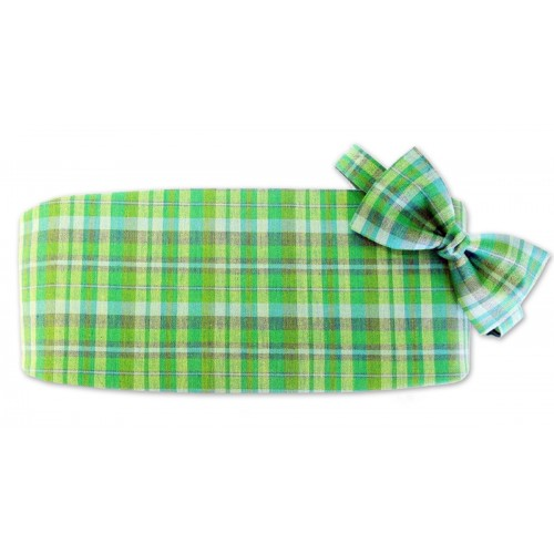 Lucky Plaid Cummerbund and Tie
