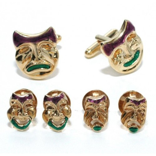 Comedy/Tragedy Masks Cufflinks and Studs