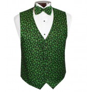 Sparkling Shamrocks Vest and Tie Set