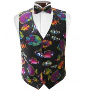 Tropical Angel Fish Vest and Tie Set