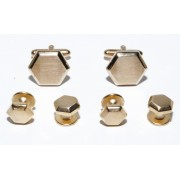 Hexagon Cufflinks and Studs