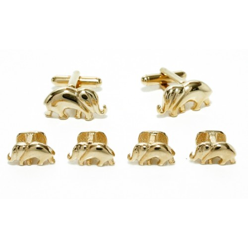Elephant Cufflinks and Studs