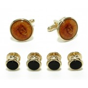 Lion Cufflinks and Studs