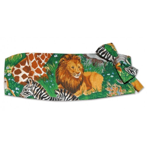 Jungle Room Cummerbund and Tie