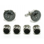 Zebra Cufflinks and Studs