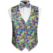 Mardi Gras Carnival Vest and Tie Set