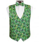 Mardi Gras Jewels Vest and Tie