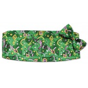 Mardi Gras Jewels Cummerbund and Tie