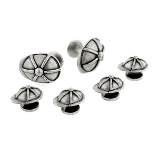 Derby Cap Cufflinks and Studs