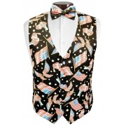 Love the USA Tuxedo Vest and Tie Set