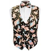 Love the USA Tuxedo Vest and Tie Set