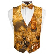 Jungle Animals Vest and Bow Tie Set