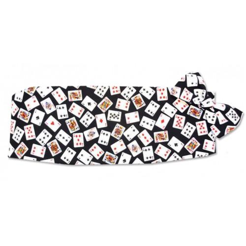 Deck of Cards Cummerbund and Bow Tie Set