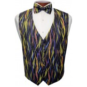 Mardi Gras Streamers Vest and Tie Set