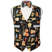 Musical Instruments Vest and Tie Set