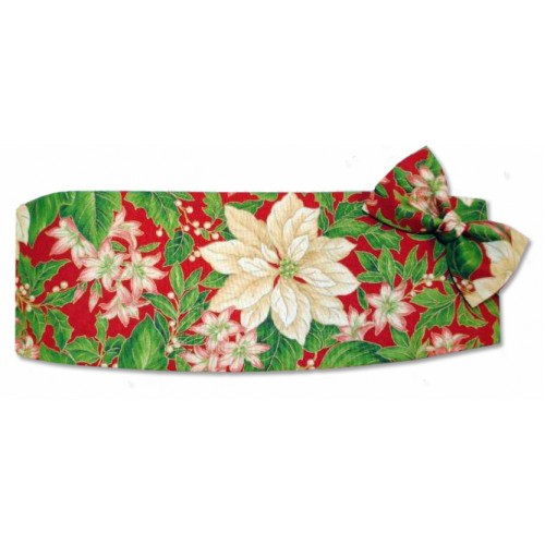 Christmas Poinsettia Cummerbund and Tie Set