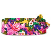 Floral Jacquard Cummerbund and Tie Set