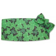 Shimmering Shamrocks Cummerbund and Tie Set
