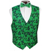 Shimmering Shamrocks Vest and Tie Set
