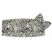 Zebra ll Cummerbund and Tie Set