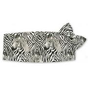 Zebra ll Cummerbund and Tie Set