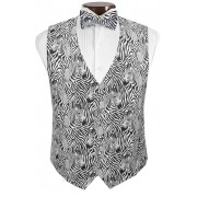 Zebra ll Tuxedo Vest and Tie Set