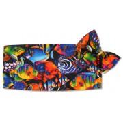 Hawaiian Tropical Fish Cummerbund and Tie