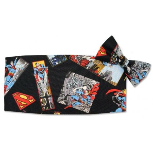 Superman Cummerbund and Tie