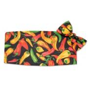 Hot-n-Spicy Peppers Cummerbund and Tie Set